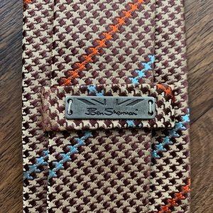 Ben Sherman Brown & Tan Houndstooth Tie